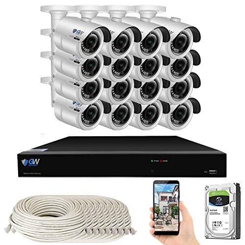 GW Security Smart AI 16 Channel PoE NVR Ultra-HD 4K (3840x2160)...