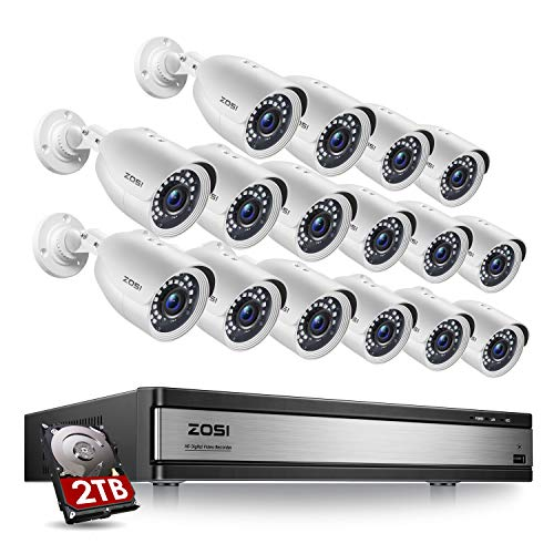 ZOSI H.265+ 1080p 16 Channel Security Camera System, 16 Channel...