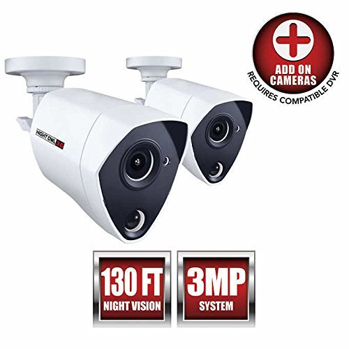 Night Owl Security 2 Pack Add-on Extreme HD 3MP Dual Sensor Wired...