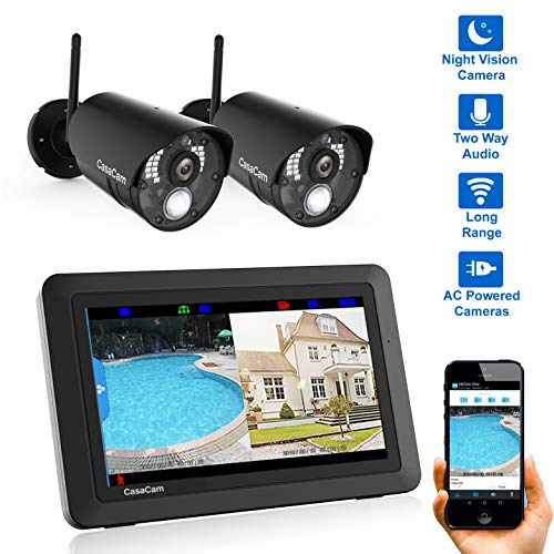 CasaCam VS802 Wireless Security Camera System with 7' Touchscreen...