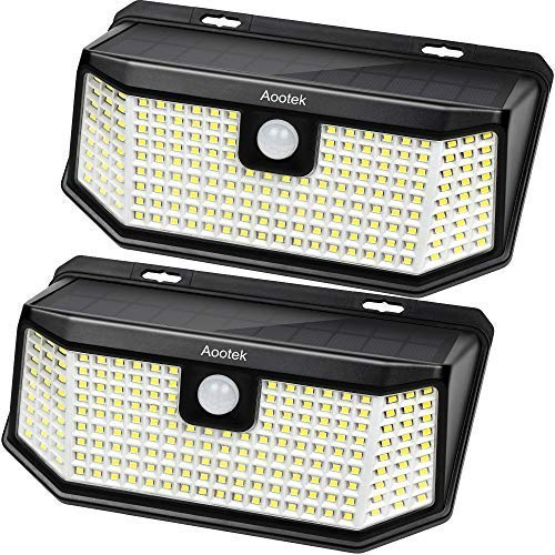 Aootek 182 Led Solar outdoor motion sensor lights upgraded Solar...