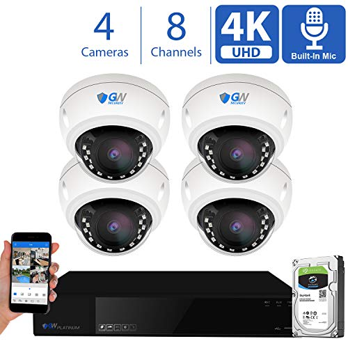 4 CH NVR 4 Megapixel H.264 4MP Security Camera System, 4 Built-in...