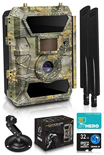 LTE 4G Cellular Trail Cameras – Outdoor WiFi Full HD Wild Game...