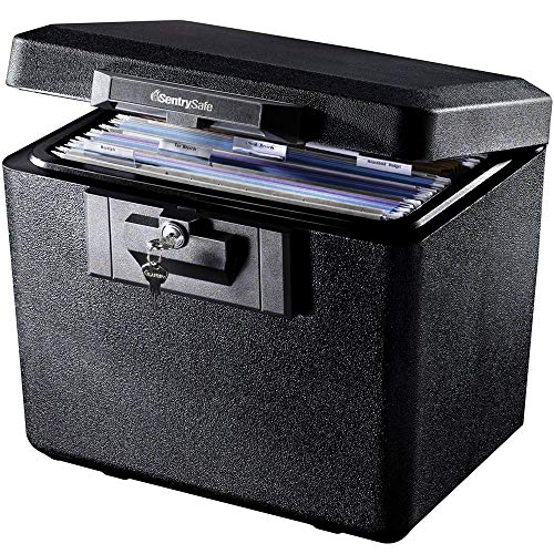 SentrySafe 1170 Fireproof Box with Key Lock 0.61 Cubic Feet,Black