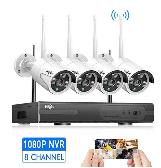 HisEEuSecurity Camera System Wireless